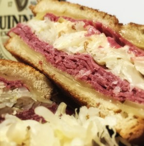You know what to do with leftover corned beef right? Reuben sandwiches!