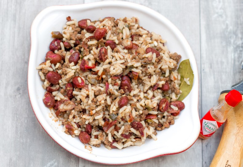 Easy, delicious red beans and rice on the trail!