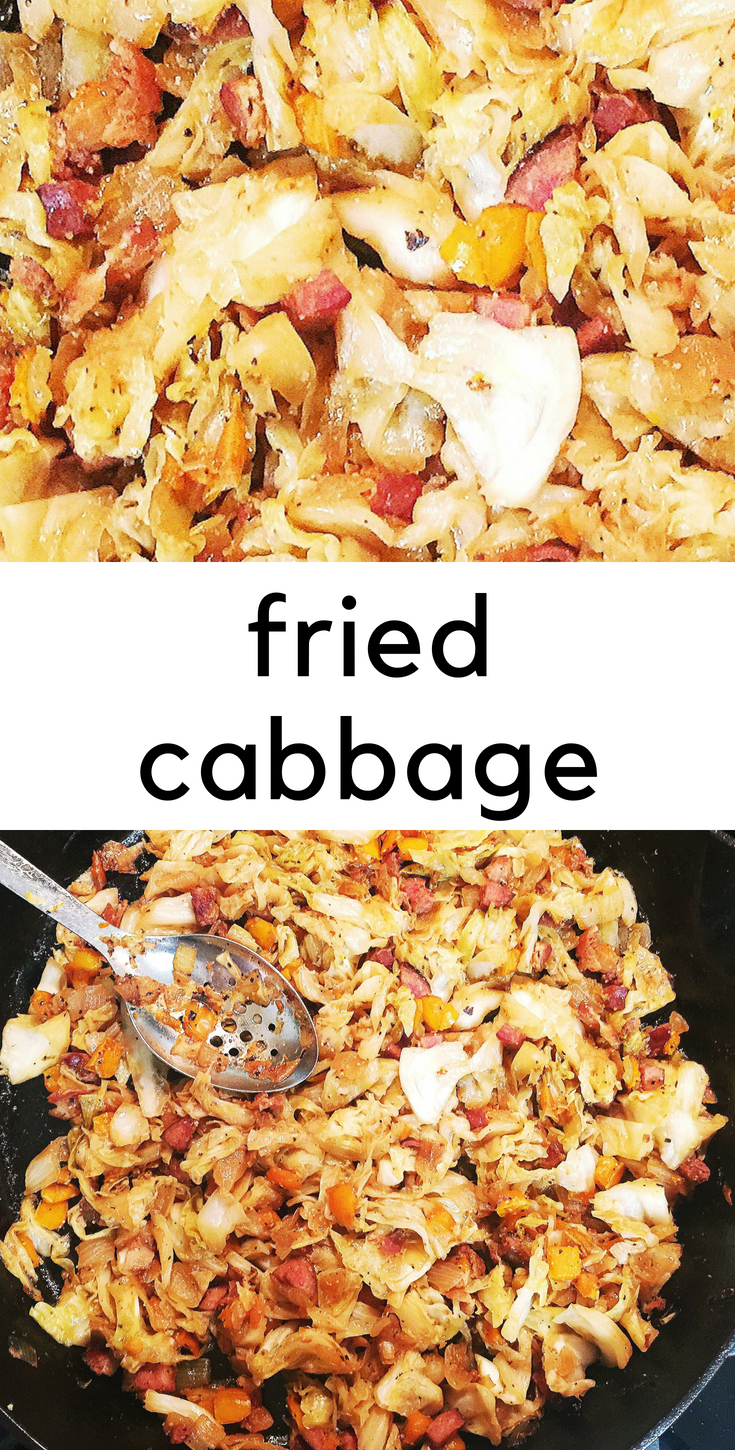 Fried cabbage - cruciferous goodness.