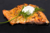 Sous vide salmon - easy, delicate buttery goodness.