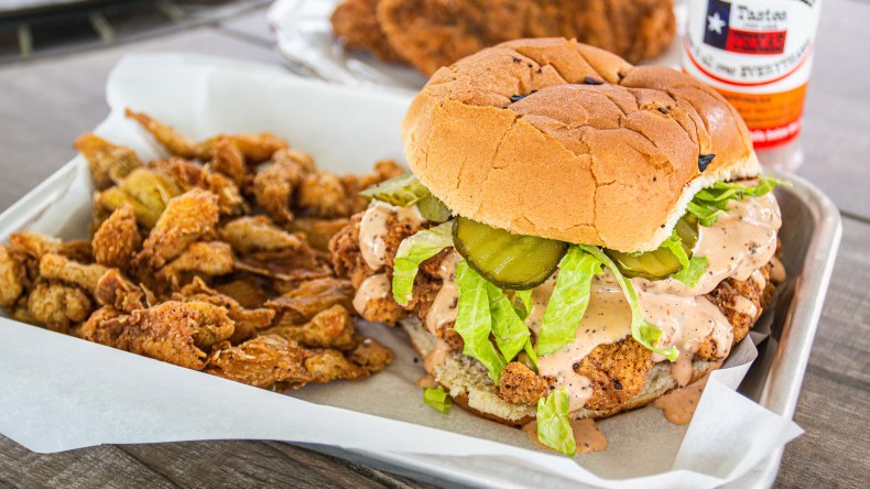 Fried pork tenderloin sandwich is not the healthiest, but it sure is delicious!