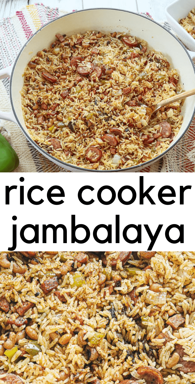 Cajun Black-Eyed Pea Jambalaya - Rice Cooker and Instant Pot