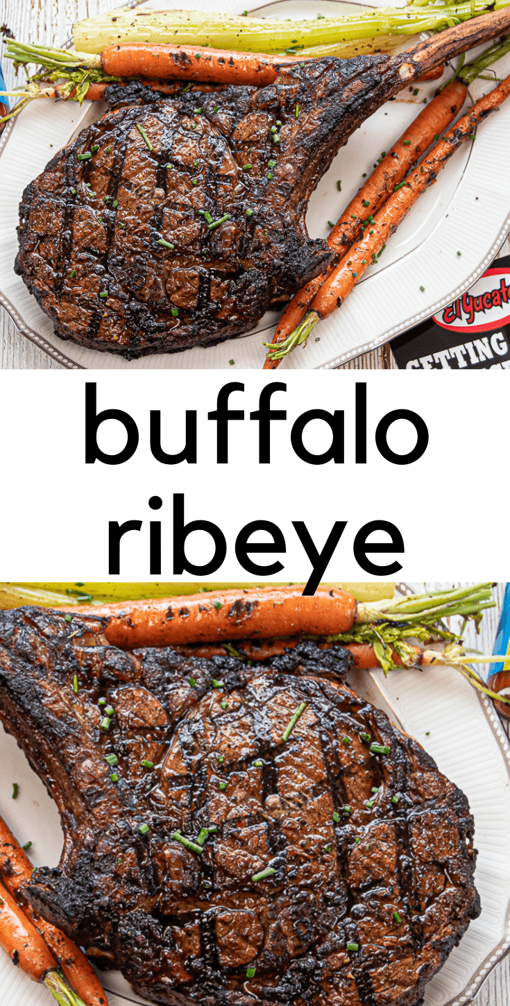 Buffalo Style Ribeye Steak
