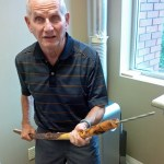 Dr Jim Morris with The Bear Stick
