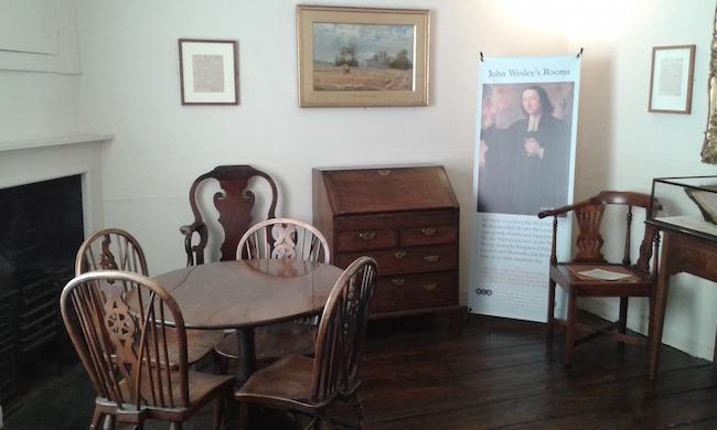 Upstairs in John Wesley's Chapel