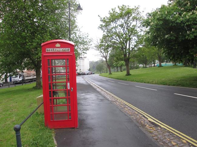Telephone box near Clifton Suspension Bridge