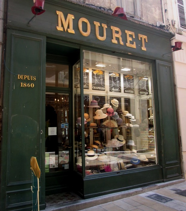 A charming little hat shop in Avignon. This is something we don't see often in the States!