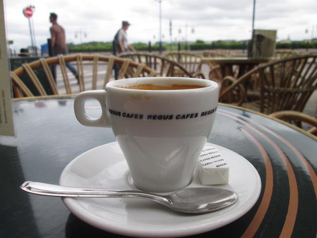 Coffee in Bordeaux, France