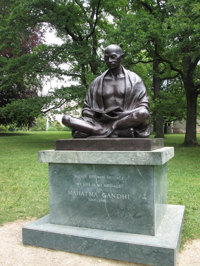 Gandi Statue Geneva Switzerland