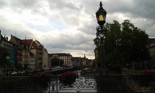 Evening walk in Strasbourg