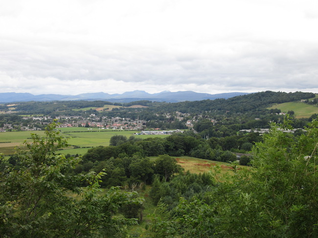 The view over Stirling from the William Wallace monument