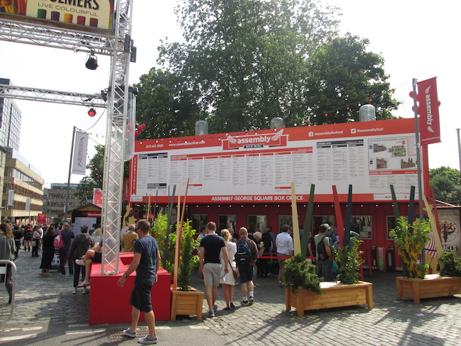 A main Fringe Festival ticket booth