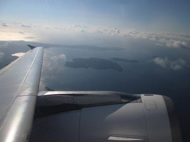 Santorini from the sky