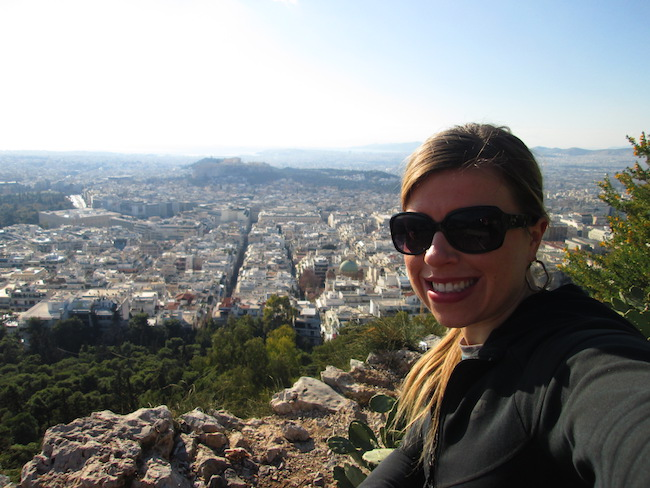 New Year's Day hike in Athens