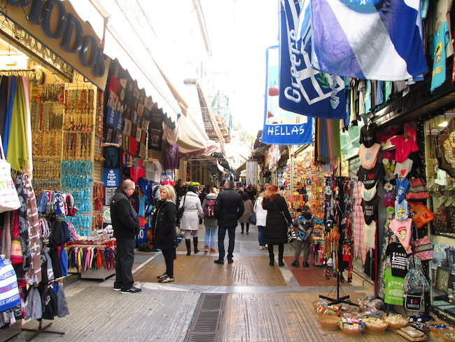 There's no shortage of shopping opportunities in Athens!