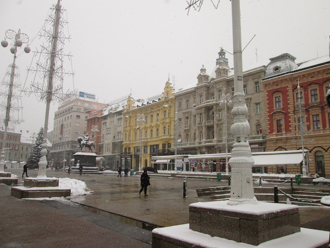 A wintery day in Zagreb