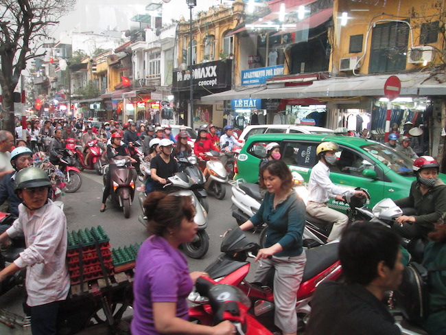 A glimpse of Old City traffic
