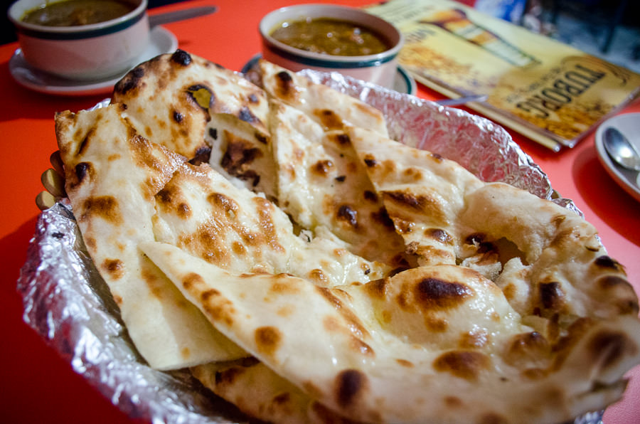 Buttered roti.
