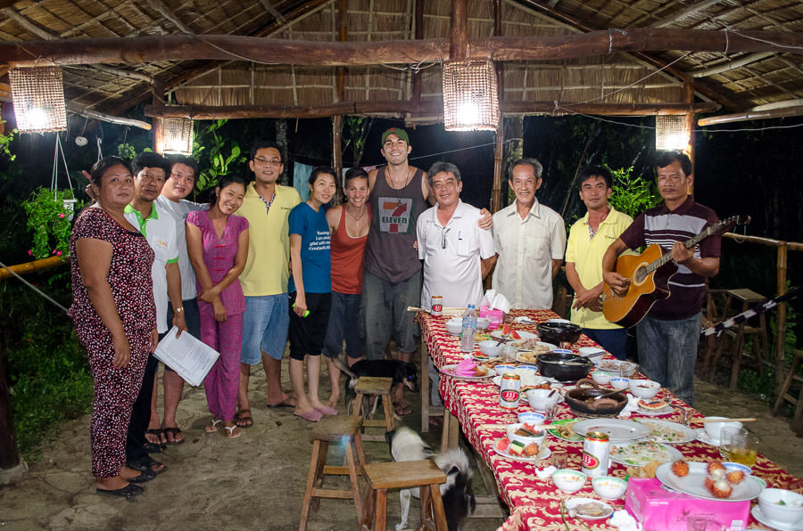 Our group after the dinner party.