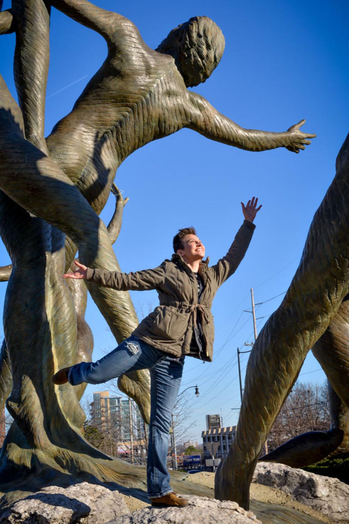 Posing with the Musica sculpture in Nashville, Tennessee in honor of my one word - Dare.