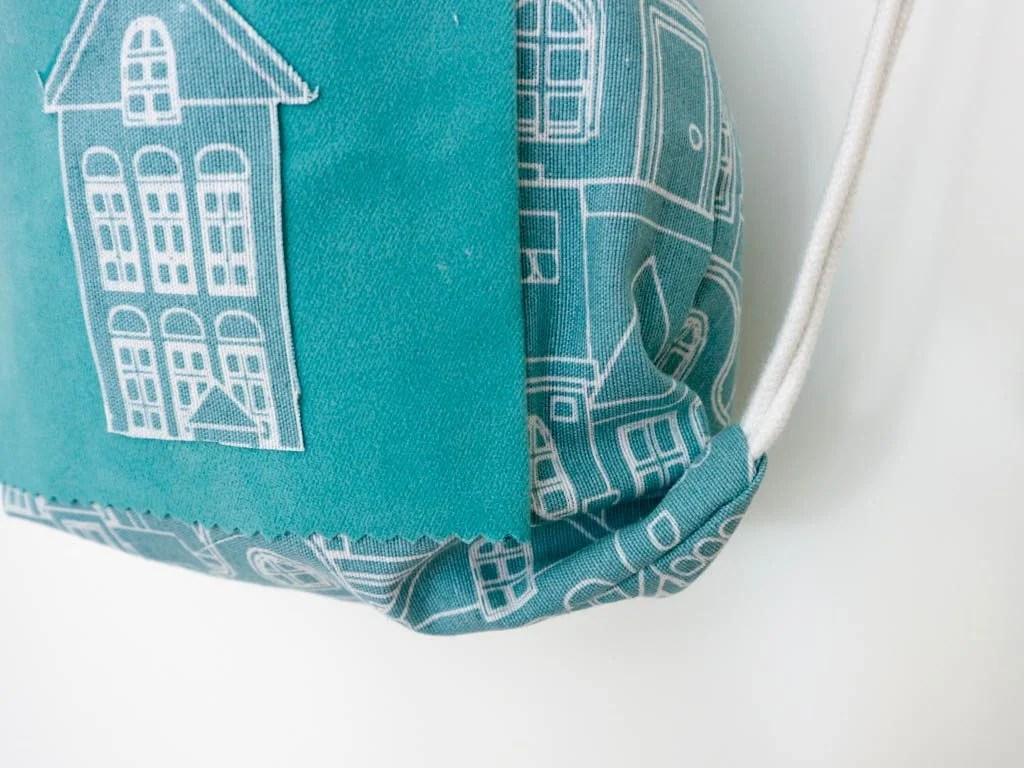 mochila de tela para la merienda