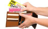 Wallet full of shopping vouchers