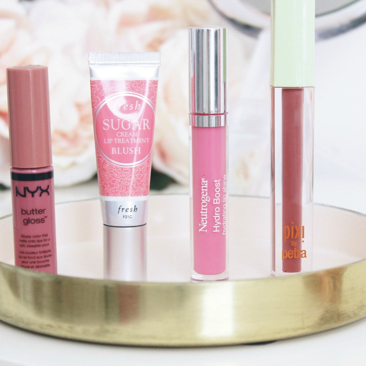 CURRENT FAVORITE NEUTRAL PINK LIPGLOSSES