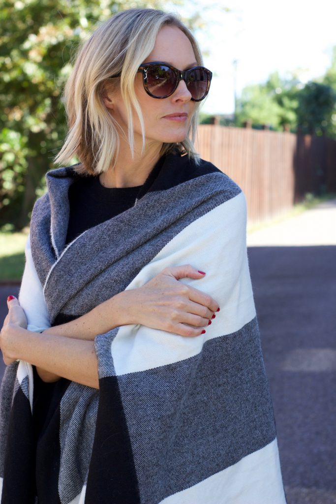 HOW TO WEAR A BLANKET CAPE