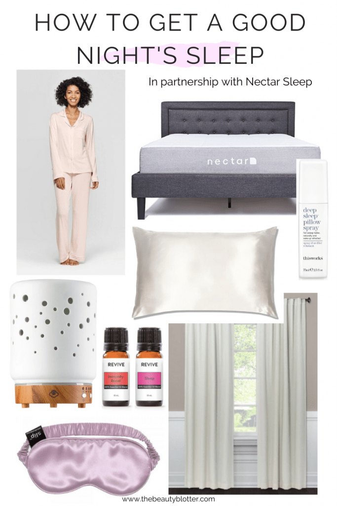 HOW TO GET A GOOD NIGHT'S SLEEP | I am sharing my best tips and favorite products for your bedroom for how to get a good night's sleep. #bedroom #selfcare #sleep