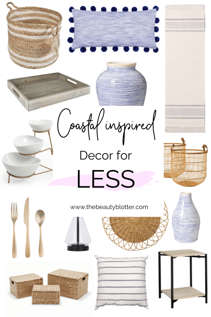 AFFORDABLE COASTAL INSPIRED DECOR   I am sharing some budget friendly coastal inspired home decor to get that Serena & Lily inspired look for less. I share my best tips and finds for decorating on a tight budget and. I found some cheap Serena & Lily dupes and affordable interior design ideas and home decor ideas. #interiordesign
