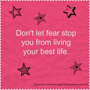 Anxiety - dont let fear stop you living pink