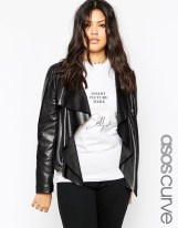 asos black leather