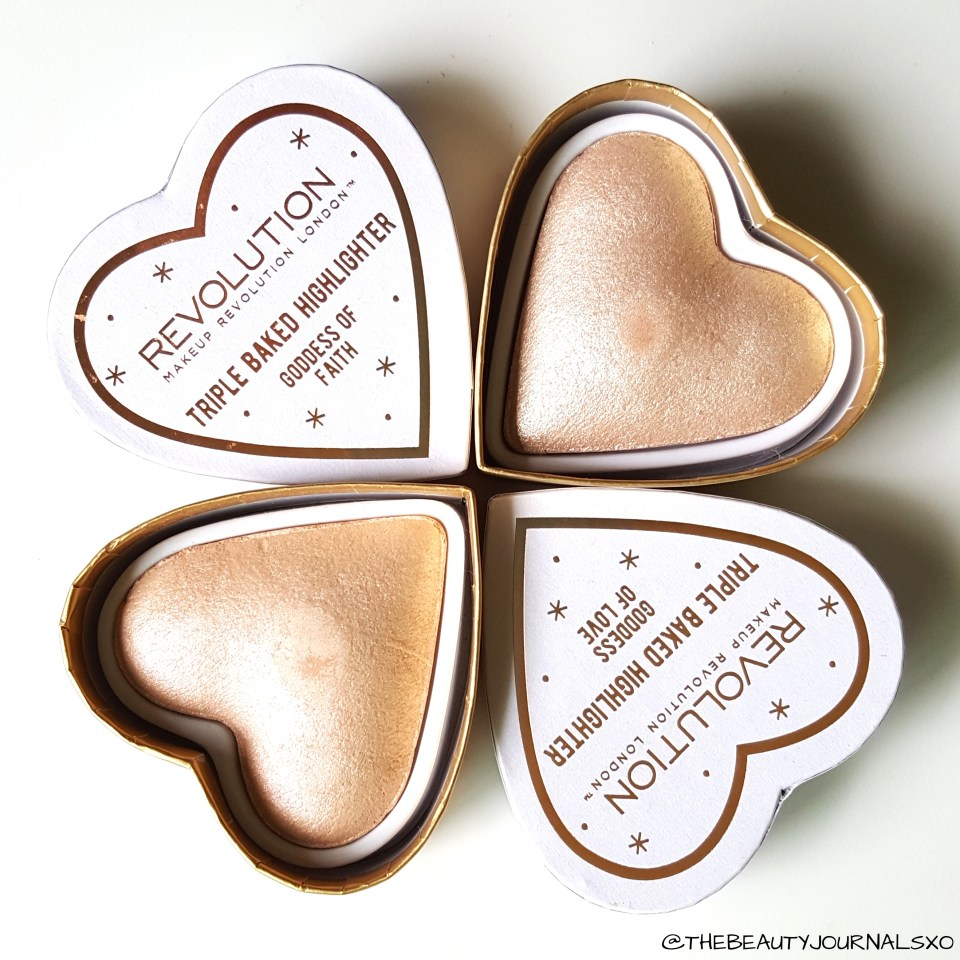 Makeup Revolution Blushing Hearts Highlighters Review