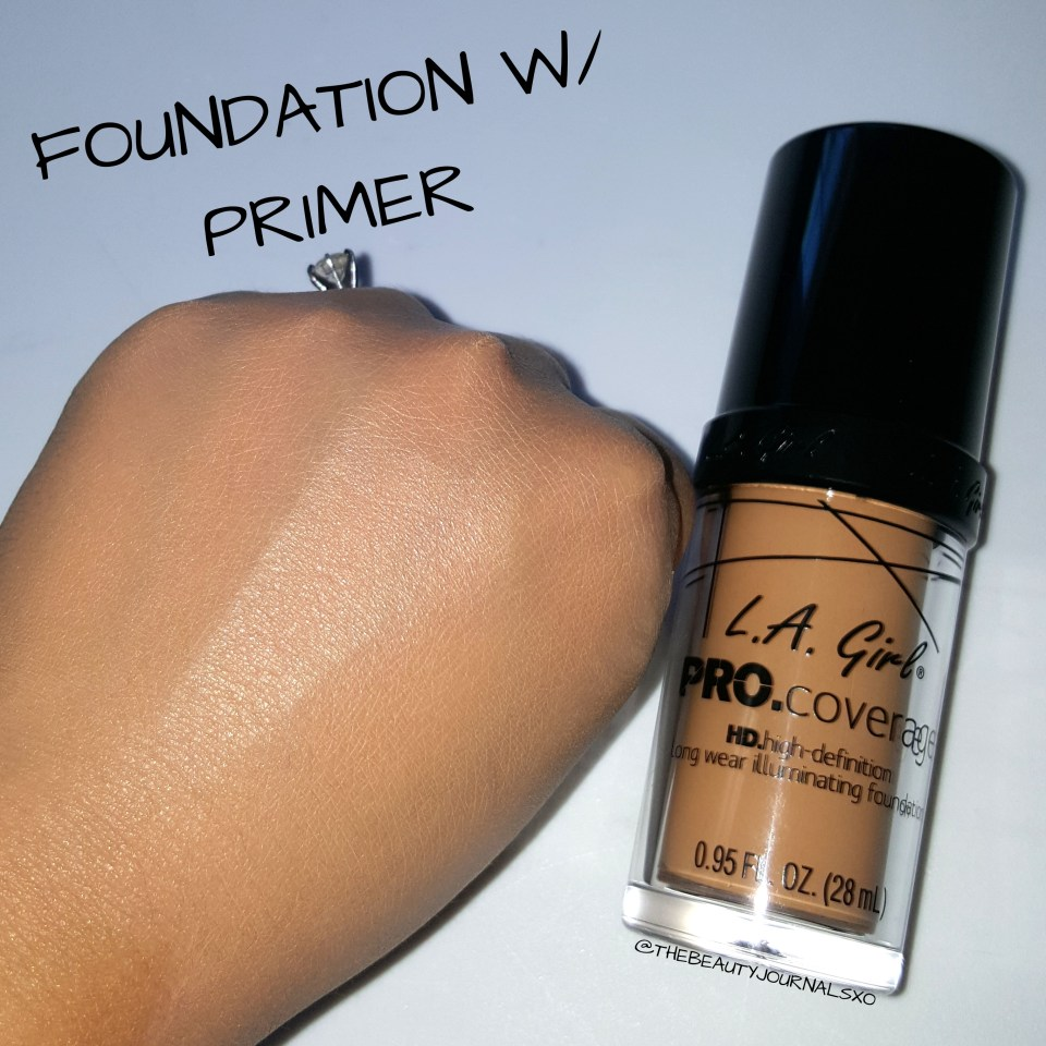 La Girl Pro Coverage Foundation Review The Beauty Journals