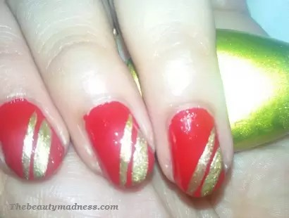 Paint The Town Red With This Super Sizzling Hot Nail Apply 2 Thin Coats Of Polish Let Them Dry Pletely Grab Your Golden And