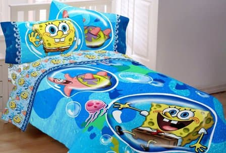 spongebob bedding toddler bed comforter and blanket 13381 | spongebob squarepants full bedding set resize 448 2c304