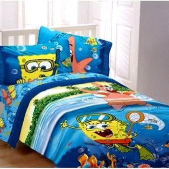 spongebob bedroom set spongebob bedding toddler bed comforter and blanket 13381