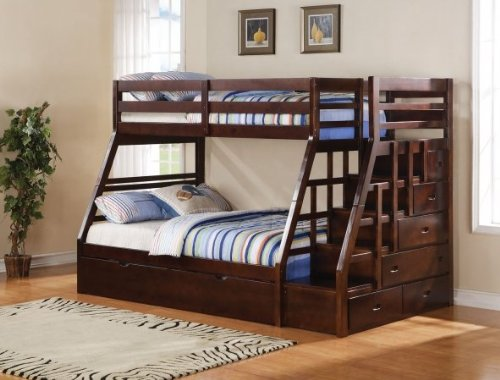 bunk beds with stairs an excellent way to add more fun to a kids room