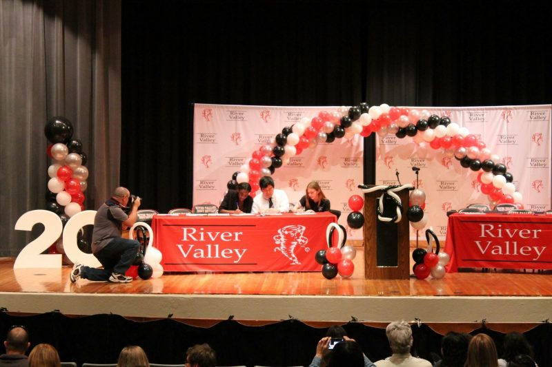 "RVHS Holds Seniors ""Signing Day"""