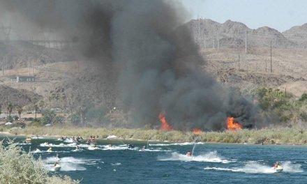Vehicle Fire Ignites Brush Fire At Davis Camp