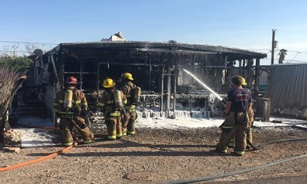 Blaze Destroys Bullhead City Mobile Home