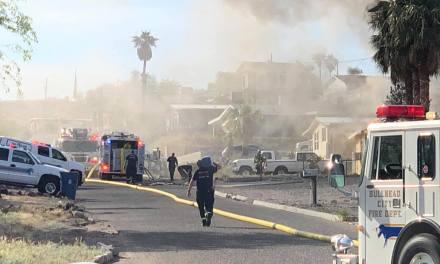 Fire on Plata Drive