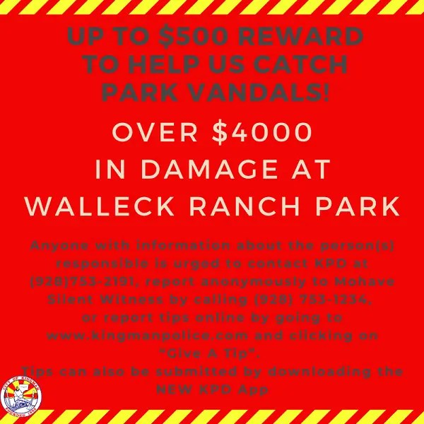 Vandals Cost City Thousands in Damage  -$4000 at Walleck Ranch Park-