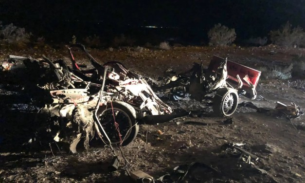 Exploded vehicle found of Silver Creek Rd