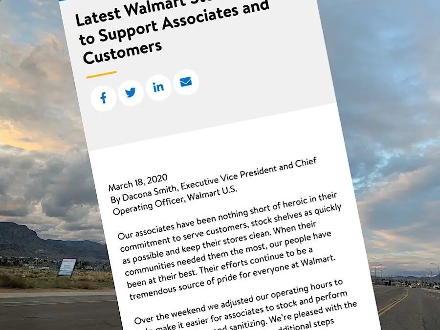 Walmart Adjusting Hours and policies to better serve community