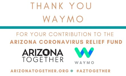 Waymo Contributes $100,000 To AZ Coronavirus Relief Fund