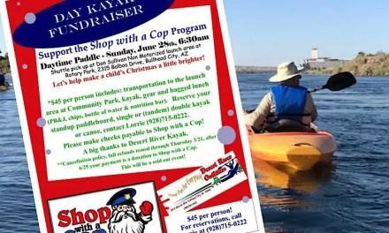 Kayak Fundraiser (Sunday, 6/28) – Bullhead City Shop with a Cop
