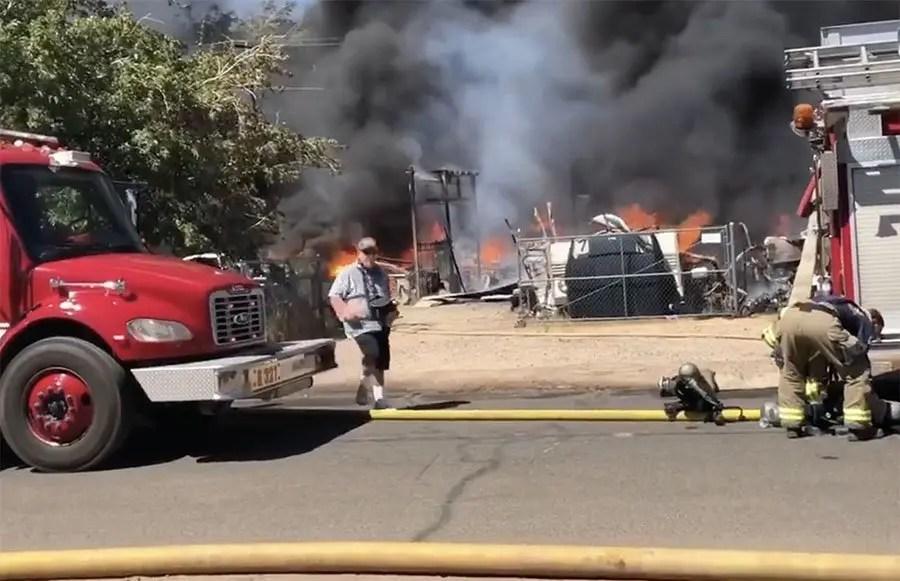 Multi-Structure Fire in Kingman