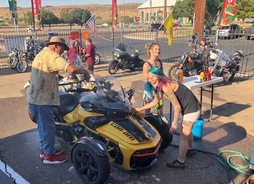Thunder-Rode Bike Wash Raises Money for Homeless Veterans