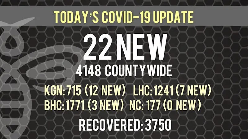 22 New COVID-19 Cases Today